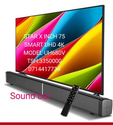 STAR X UHD 4K ANDROID TV INCH 75 INCLUDED SOUND BAR FULL image 1