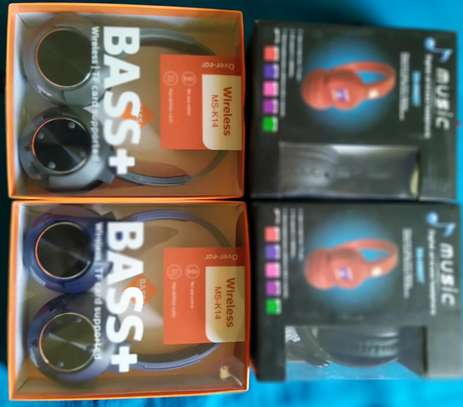 Deep Bass Bluetooth wireless Headphones with Memory card slot, FM Radio and AUXILIARY Port image 6