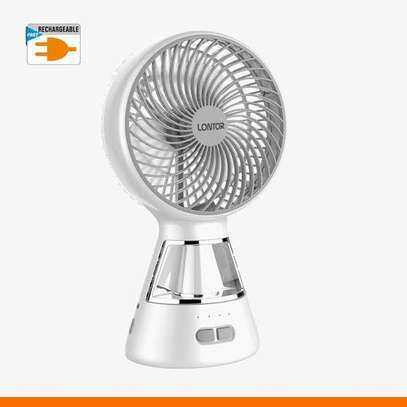 Lontor high quality Rechargeable table fan with 10H charge time