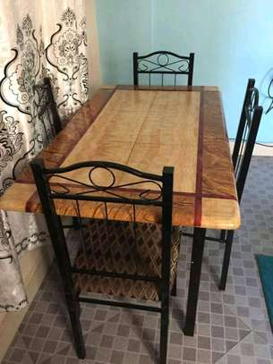 Dining Table with Four Chairs image 2