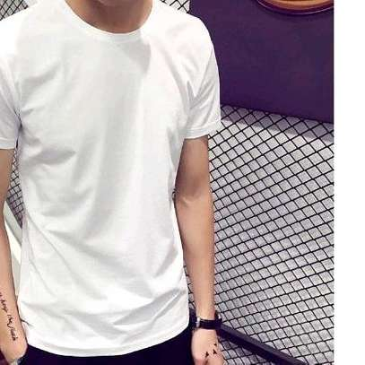 New summer pure round neck short sleeved T-shirt buttoming