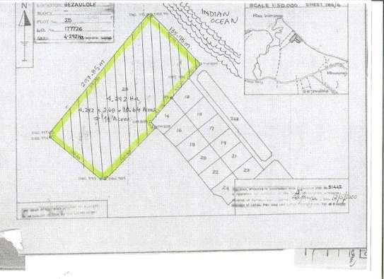 1  Acres Beach Plot for sale in kigamboni image 7