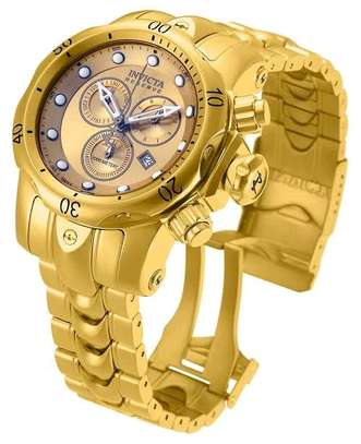 Pure & Heavy Stainless Steel Invicta Chronograph Watch