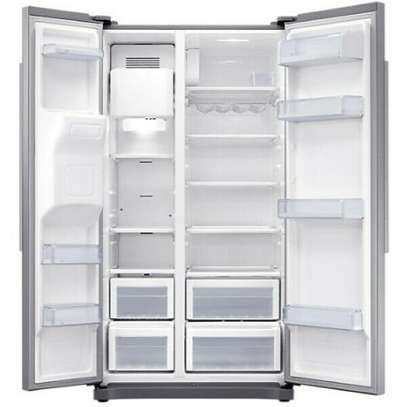 Samsung Side by side 501 L Side-by-side Refrigerator Stainless Steel RS50N3C13S8 image 3