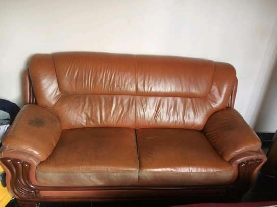 Double Leather sofa for sale