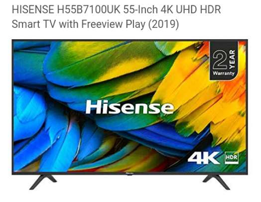 Hisense 55 inch uhd smart led TV HDR #55B7100 image 1