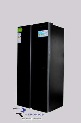 Westpoint Black Doube Door Side By Side Glass Finish Refrigerator 455L – WSNS-5019.ERGB image 2