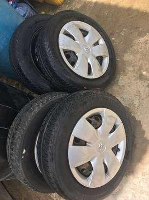 Toyota VITZ - 3 x Hub Caps and 4 x Tyres on Steel Rims