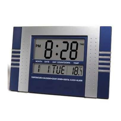 KADIO 5850 DIGITAL WALL AND TABLE CLOCK WITH DAY DATE TEMPERATURE image 3