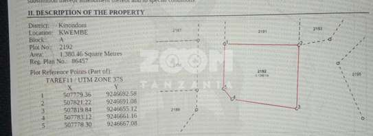 Two Plots in Kwembe For sale image 1