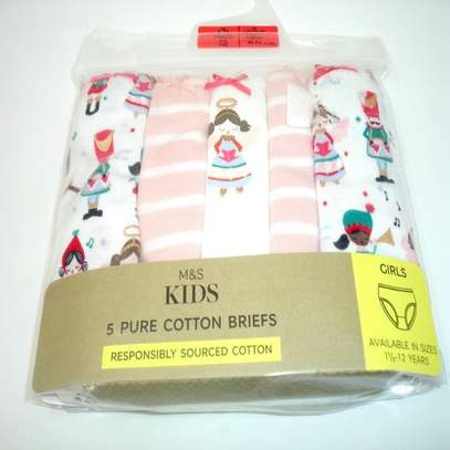 M&S Kids 5 Pure Cotton Briefs