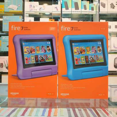 Amazon Fire 7 Kids Edition Tablet, 7 Display, 16 GB, Purple Kid-Proof Case image 1