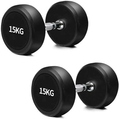 Fixed Ruber Dumbell  15KG image 1
