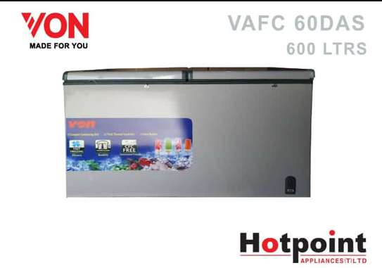 VON CHEST FREEZER 600L TOP DOORS image 1