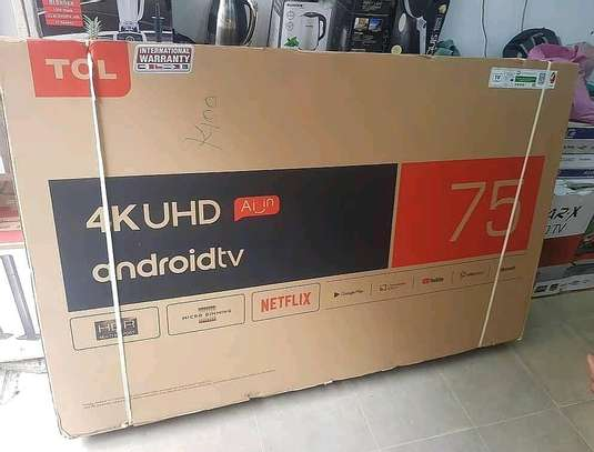 TCL 75 Inch 4-K ULTRA HD AnDROID Smart image 1
