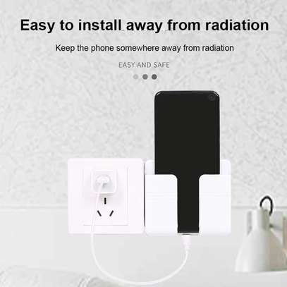 Wall Mounted Organizer Air Conditioner TV Remote Control Storage Box Mobile Phone Plug Holder Multifunction USB Charging Stand image 4