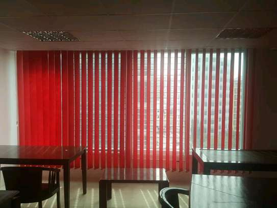 Red Vertical Blinds- Curtains for Office image 2