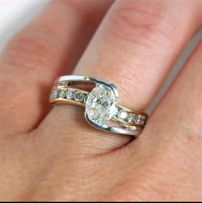 Gold and Silver Engagement Ring image 6