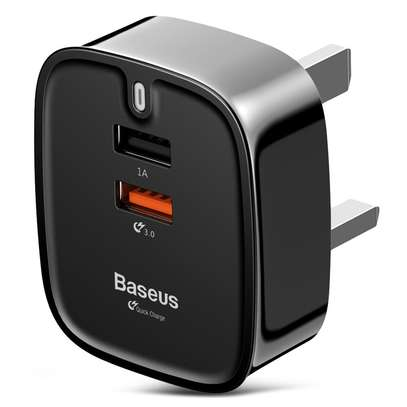 Baseus Funzi QC 3.0 Dual USB Smart Travel Charger image 1