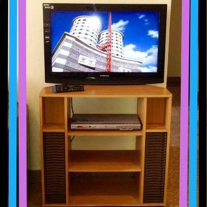 32''Television with Tv Rack & Dvd Deck image 1
