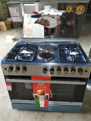 VON HOTPOINT 60X90 COOKER 4 GAS BURNERS + 2 ELECTRIC PLATES PLUS ELECTRIC OVEN