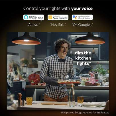Philips Hue White and Colour Ambience GU10 Dimmable LED Smart Spot Light image 8