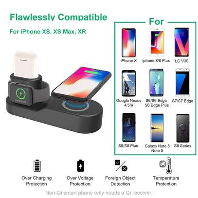 Wireless Phone Fast Charging Doc 4 in 1 image 2