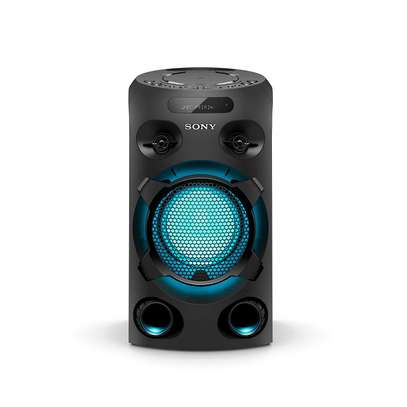 Sony MHC-V02 Compact High Power Party Speaker, One Box Music System with Bluetooth, Jet Bass Booster and Tripod Compatible, Black image 2