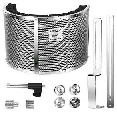 STUDIO EQUIPMENTS (Neewer Microphone Isolation Shield Absorber Filter Vocal Isolation Booth) image 1