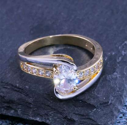 Gold and Silver Engagement Ring image 2