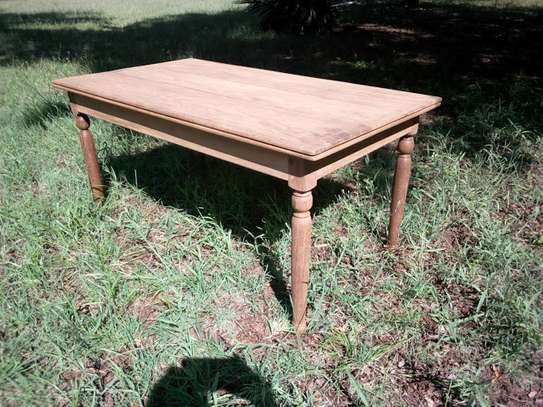 Original Restored Colonial Dinner table 3x6 feet with benches image 2