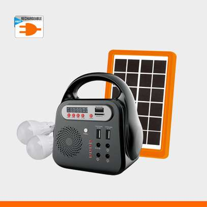 Lontor Solar Rechargeable Lighting Kit (With Radio,2 Bulbs,Mp3 speaker,USB output) image 1