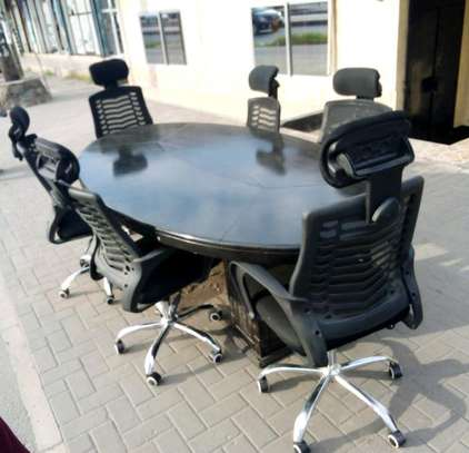 CONFERENCE TABLE +CHAIRS image 1