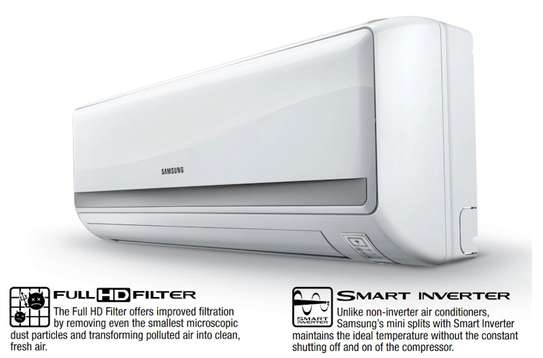 SAMSUNG AIR CONDITIONER SPLIT 24000 BTU AR09TVHGA R410A INVERTER image 1