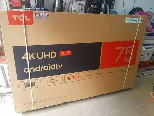 TCL UHD 4K ANDROID SMART TV 75 INCHES image 1