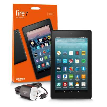 Amazon Fire 7 Tablet with Alexa, 7″ Display, 8 GB, Black