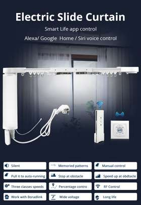 Electric Wi-Fi Curtain Motor with Track Alexa Google Home Control image 1