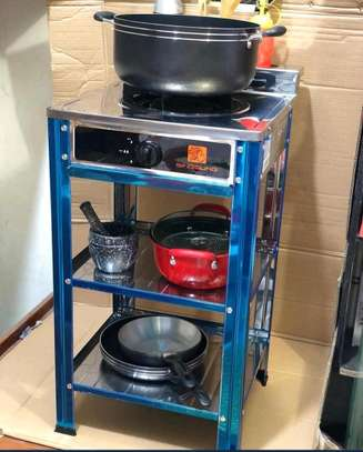 GAS COOKER WITH STORAGE STAND image 1