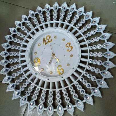 White and Gold Clock image 1