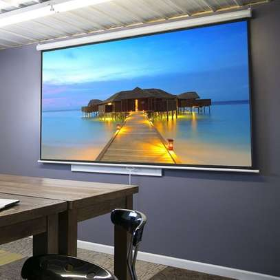 Manual Projector Screen - 150 Inches image 4