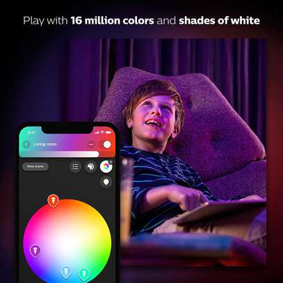 Philips Hue White and Colour Ambience GU10 Dimmable LED Smart Spot Light image 2