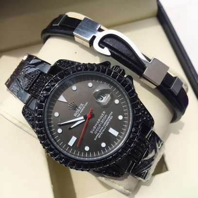 Pack of Black Watch and Bracelet