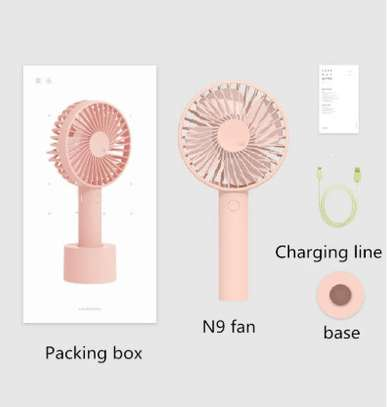 Portable Rechargeable Fan USB 1800mAh Fan For Outgoing Home Travel Handheld Desktop USB Cooling Fan For Hot Summer image 5