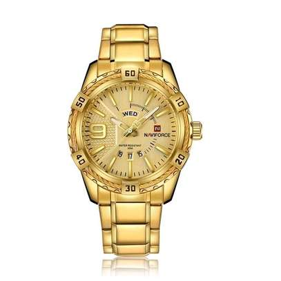 Pure Gold Colour Naviforce Military Watch