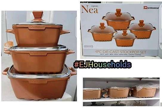 DIE CAST STOCKPOT 4PCS  SET. image 1