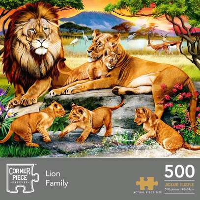 Lion Family Jigsaw Puzzle 500pcs