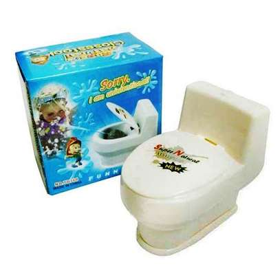 Funny Mini Squirting Toilet Prank Desk Toy image 1