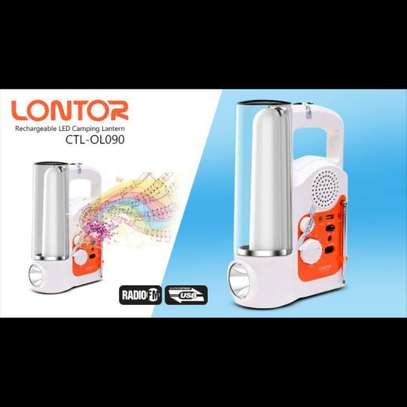 Lontor Rechargeable Lantern With FM Radio And Usb Output image 2