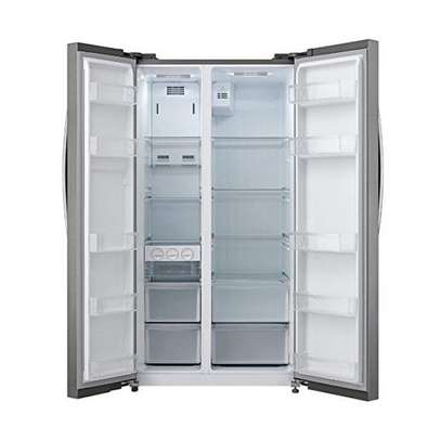 Panasonic Side By Side Refrigerator 18 FT , 527L Silver , NR-BS60MSSA image 3