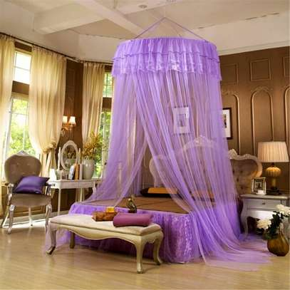 Bed Canopy Curtain Hanging Dome Mosquito Nets Open Door Princess Landing Insect Bug Protection Bed Canopy image 3